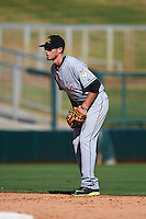 Mesa Solar Sox shortstop J.T. Riddle (7) during an Arizona Fall League game against the Glendale Desert Dogs on October 13, 2015 at Camelback Ranch in Glendale, Arizona.  Glendale defeated Mesa 8-7.  (Mike Janes/Four Seam Images)