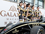 Racing queens pose for the Galaxy Double R Racing Team ahead of the 2011 Formula 3 Macau Grand Prix on 19th November 2011. © Raf Sanchez / PSI for Galaxy Macau