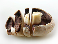 Fresh mixed whole  field mushrooms