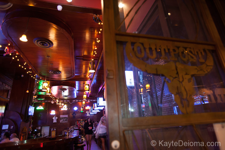 The Outpost bar on the Cahuenga Corridor in Hollywood, Los Angeles, CA