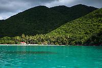Maho Bay from the water<br /> Virgin Islands National Park<br /> St. John<br /> U.S. Virgin Islands