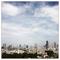 A view of the Tokyo skyline.