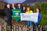 Recovery Haven Kerry receiving the sum of €1,135 from the recent Moss Keane Memorial Golf outing at the centre on Thursday.<br />  L to r: Charlie Daly, Matt Keane, Donie O'Shea,  Tim McSwiney (Chairman of Recovery Haven) ,Kathleen Collins (Recovery Haven) and Sharon Villa,