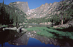 """Dream Lake in Rocky Mountain National Park.<br /> From: """"Boulder, Colorado: A Photographic Portrait"""" by John Kieffer.<br /> John leads Rocky Mountain National Park photo tours and hikes.  All-year Colorado sightseeing."""