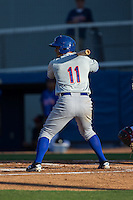 Dionis Rodriguez (11) of the Kingsport Mets at bat against the Danville Braves at American Legion Post 325 Field on July 9, 2016 in Danville, Virginia.  The Mets defeated the Braves 10-8.  (Brian Westerholt/Four Seam Images)