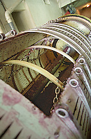 Inside of a horizontal press domaine de cabasse rhone france