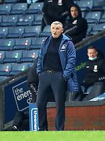 3rd November 2020; Ewood Park, Blackburn, Lancashire, England; English Football League Championship Football, Blackburn Rovers versus Middlesbrough; Blackburn Rovers manager Tony Mowbray looks on from the touchline