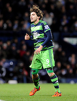 Alberto Paloschi of Swansea City on debut during the Barclays Premier League match between West Bromwich Albion and Swansea City at The Hawthorns on the 2nd of February 2016