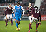 Hearts v St Johnstone…03.02.18…  Tynecastle…  SPFL<br />Matty Willock takes on Connor Randall<br />Picture by Graeme Hart. <br />Copyright Perthshire Picture Agency<br />Tel: 01738 623350  Mobile: 07990 594431