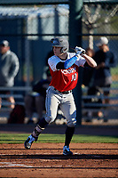 Tristen Tidwell during the Under Armour All-America Pre-Season Tournament, powered by Baseball Factory, on January 19, 2019 at Sloan Park in Mesa, Arizona.  Tristen Tidwell is a shortstop / right handed pitcher from Griffin, Georgia who attends Spalding High School.  (Mike Janes/Four Seam Images)