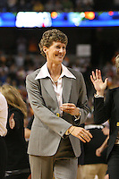 6 April 2008: Stanford Cardinal associate head coach Amy Tucker during Stanford's 82-73 win against the Connecticut Huskies in the 2008 NCAA Division I Women's Basketball Final Four semifinal game at the St. Pete Times Forum Arena in Tampa Bay, FL.