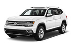 2018 Volkswagen Atlas SEL 5 Door SUV angular front stock photos of front three quarter view