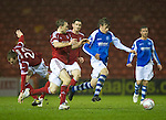 Aberdeen v St Johnstone..22.12.12      SPL.Murray Davidson and Russell Anderson.Picture by Graeme Hart..Copyright Perthshire Picture Agency.Tel: 01738 623350  Mobile: 07990 594431