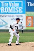 Drew Jackson (5) of the Everett AquaSox in the field during a game against the Spokane Indians at Everett Memorial Stadium on July 24, 2015 in Everett, Washington. Everett defeated Spokane, 8-6. (Larry Goren/Four Seam Images)