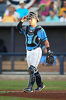 Charlotte Stone Crabs catcher Jake DePew (23) during a game against the Bradenton Marauders on April 4, 2014 at Charlotte Sports Park in Port Charlotte, Florida.  Bradenton defeated Charlotte 9-1.  (Mike Janes/Four Seam Images)