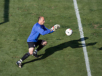 USA goalkeeper Kasey Keller warms up. The USA defeated China, 4-1, in an international friendly at Spartan Stadium, San Jose, CA on June 2, 2007.