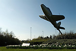 Lutterworth Leicestershire. Jet airplane referd to as the Gloster Whittle, was the first British jet engined aircraft. Celebrating Sir Frank Whittle on the round about as you enter Lutterworth.