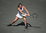 April 6,2018:   Daria Kasatkina (RUS) loses to Julia Goerges (GER) 6-4, 6-3, at the Volvo Car Open being played at Family Circle Tennis Center in Charleston, South Carolina.  ©Leslie Billman/Tennisclix/CSM