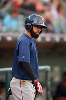 Pawtucket Red Sox shortstop Deven Marrero (17) before a game against the Buffalo Bisons on August 31, 2017 at Coca-Cola Field in Buffalo, New York.  Buffalo defeated Pawtucket 4-2.  (Mike Janes/Four Seam Images)
