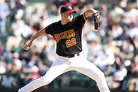 May 25, 2009:  Relief Pitcher Bob Keppel (22) of the Rochester Red Wings, International League Triple-A affiliate of the Minnesota Twins, delivers a pitch during a game at Frontier Field in Rochester, NY.  Photo by:  Mike Janes/Four Seam Images
