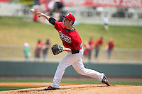 Birmingham Barons starting pitcher Tyler Danish (23) in action against the Tennessee Smokies at Regions Field on May 4, 2015 in Birmingham, Alabama.  The Barons defeated the Smokies 4-3 in 13 innings. (Brian Westerholt/Four Seam Images)