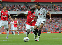Pictured: Scott Sinclair of Swansea City in action. Saturday 10 September 2011<br /> Re: Premiership Arsenal v Swansea City FC at the Emirates Stadium, London.