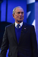 Washington, DC - March 2, 2020:  Michael Bloomberg, 2020 presidential candidate,  addresses attendees of the AIPAC Policy Conference at the Washington Convention Center March 2, 2020.  (Photo by Don Baxter/Media Images International)
