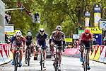 Joris Nieuwenhuis (NED) Team Sunweb leads in the chase group at the end of Paris-Tours 2020, running 213km from Chartres to Tours, France. 11th October 2020.<br /> Picture: ASO/Gautier Demouveaux | Cyclefile<br /> All photos usage must carry mandatory copyright credit (© Cyclefile | ASO/Gautier Demouveaux)