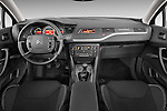 Straight dashboard view of a 2010 Citroen C5 Confort 4 Door Sedan 2WD