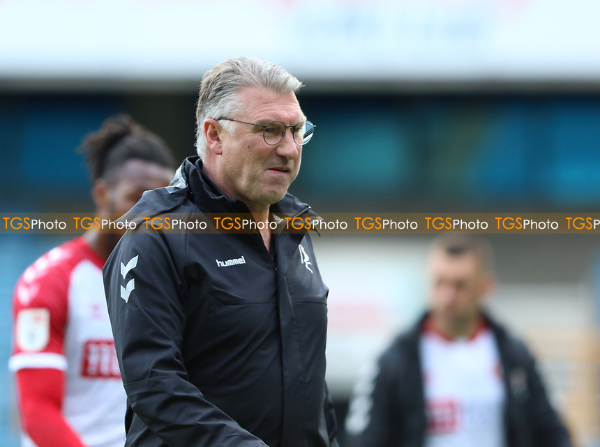 Nigel Pearson manager of Bristol City comes off at full time during Millwall vs Bristol City, Sky Bet EFL Championship Football at The Den on 1st May 2021