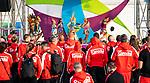 Lima 2019 - Canada is welcomed into the Parapan Am Village during the flag raising ceremony // Équipe Canada est accueilli au village parapanaméricain lors de la cérémonie de lever du drapeau. 22/08/2019.