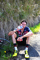 Ian Bibby after winning Stage Four of the 2018 NZ Cycle Classic UCI Oceania Tour (Masterton to Admiral's Hill) in Wairarapa, New Zealand on Saturday, 20 January 2018. Photo: Dave Lintott / lintottphoto.co.nz