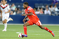 Armando Cooper midfielder Panama in action...Canada and Panama tied 1-1 in Gold Cup play at LIVESTRONG Sporting Park, Kansas City, Kansas.