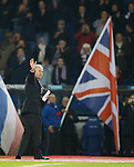 Rangers CEO Charles Green takes to the pitch to tell the Rangers fans of the club's successful flotation on the London Stock Exchange