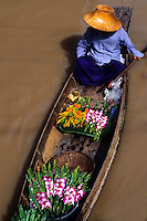 Wonderful color graphic image cover at the famous Floating Market at Damnernsaduak near Bangkok Thailand