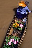 Wonderful color graphic image cover at the famous Floating Market at Damnernsaduak near Bangkok Thailand