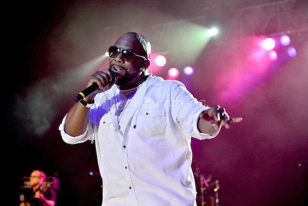 POMPANO BEACH, FL - DECEMBER 02: Wanya Morris of Boyz II Men performs onstage at Pompano Beach Amphitheatre on December 2, 2016 in Pompano Beach, Florida. Credit: MPI10 / MediaPunch