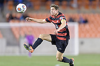Houston, TX -  Friday, December 9, 2016:  Drew Skundrich (12) of the Stanford Cardinal gains control of a loose ball in the second half against the North Carolina Tar Heels at the  NCAA Men's Soccer Semifinals at BBVA Compass Stadium.
