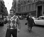 PAOLO VILLAGGIO CON LA MOGLIE MAURA ED IL FIGLIO PIERFRANCESCO<br /> ROMA 1974