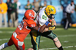 North Dakota State Bison tight end Kevin Vaadeland (85) and Sam Houston State Bearkats defensive back Michael Wade (31) in action during the FCS Championship game between the North Dakota State Bison and the Sam Houston State Bearkats at the FC Dallas Stadium in Frisco, Texas. North Dakota defeats Sam Houston 39 to 13..