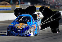 Sept. 4, 2010; Clermont, IN, USA; NHRA funny car driver Jim Head during qualifying for the U.S. Nationals at O'Reilly Raceway Park at Indianapolis. Mandatory Credit: Mark J. Rebilas-