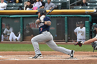 Aaron Cunningham (3) of the Reno Aces at bat against the Salt Lake Bees at Smith's Ballpark on May 5, 2014 in Salt Lake City, Utah.  (Stephen Smith/Four Seam Images)