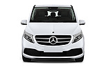 Car photography straight front view of a 2020 Mercedes Benz V-class Avantgarde 5 Door Mini Van