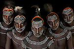 Karo warriors, Omo River Valley, Ethiopia<br />