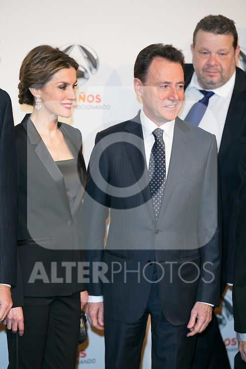King Felipe VI and Queen Letizia attends the Antena 3 25 Aniversary at Council of Madrid, Madrid,  Spain. January 29, 2015.(ALTERPHOTOS/)Carlos Dafonte)