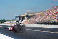 Sep 2, 2019; Clermont, IN, USA; NHRA top fuel driver Doug Kalitta during the US Nationals at Lucas Oil Raceway. Mandatory Credit: Mark J. Rebilas-USA TODAY Sports