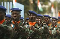 Abidjan, 7 août 2017 - 57e anniversaire de la Répubrique de Côte d'Ivoire - Défilé militaire : des Faci ( foce armées de côte d'ivoire ) au palais de la Présidence au plateau. # 57E FETE DE L'INDEPENDANCE DE LA COTE D'IVOIRE