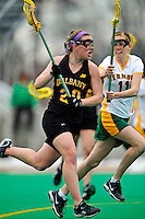 5 April 2008: University at Albany Great Danes' Midfielder Jodi Battaglia, a Freshman from Amherst, NY, in action against the University of Vermont Catamounts at Moulton Winder Field, in Burlington, Vermont. With only seconds left in regulation time, the Catamounts rallied to defeat the visiting Danes 11-10 in America East conference play...Mandatory Photo Credit: Ed Wolfstein Photo