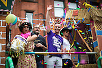 © Joel Goodman - 07973 332324 . 27/08/2016 . Manchester , UK . Coronation Street float at the annual Pride Parade through Manchester City Centre as part of Manchester Gay Pride's Big Weekend . Photo credit : Joel Goodman