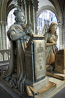 Tomb monument of Louis XVI (1754 - 1793) king of France 1774 to 1792 and his wife Marie Antoinette (1755 - 1793).
